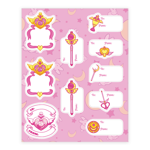 Magical Girl Gift Tags