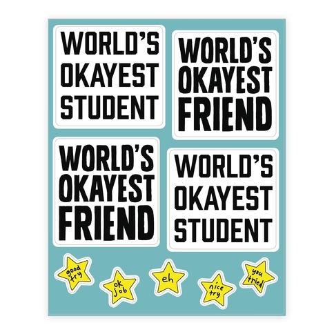 World's Okayest  Sticker/Decal Sheet