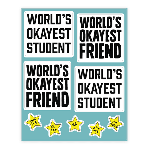 World's Okayest  Sticker/Decal Sheet
