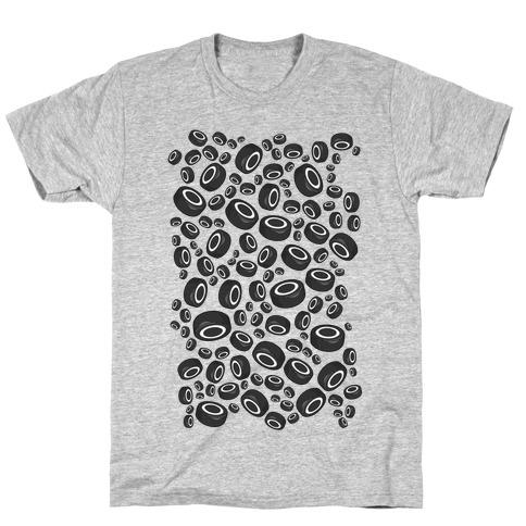 Hockey Pucks Pattern T-Shirt