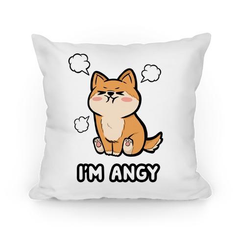 I'm Angy Shiba Inu Pillow