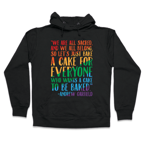 Let's Just Bake A Cake For Everyone Who Wants A Cake To Be Baked White Print Hooded Sweatshirt