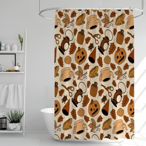 Into the Unknown Pattern Shower Curtain