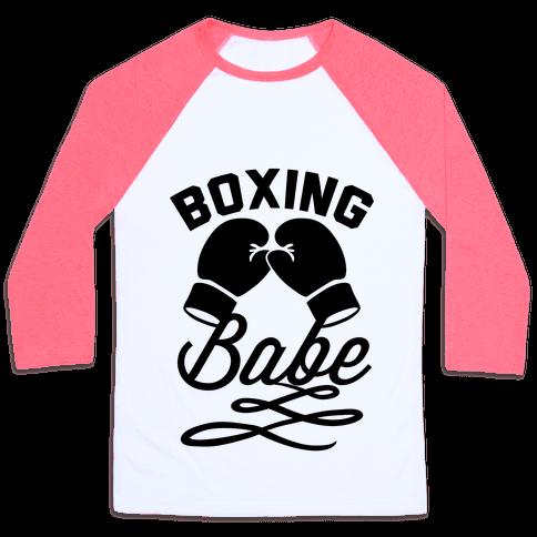 Boxing Babe Baseball Tee