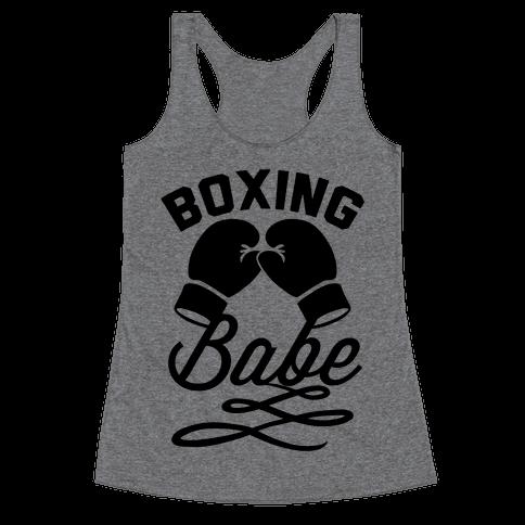 Boxing Babe Racerback Tank Top