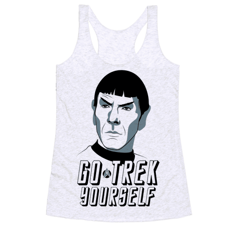 Go Trek Yourself Racerback Tank Top