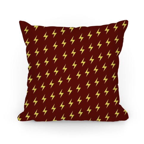 Gryffindor House Lightning Bolt Pattern Pillow