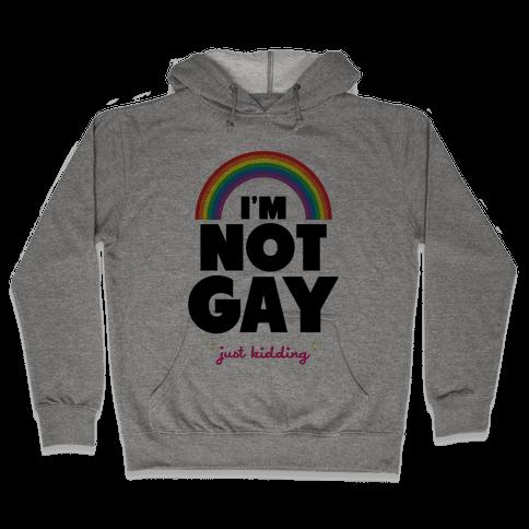 I'm Not Gay Just Kidding Hooded Sweatshirt