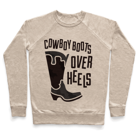 Cowboy Boots Over Heels Pullover