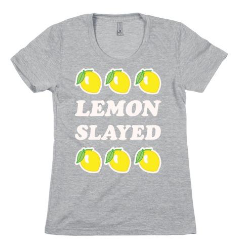 Lemon Slayed Parody Womens T-Shirt