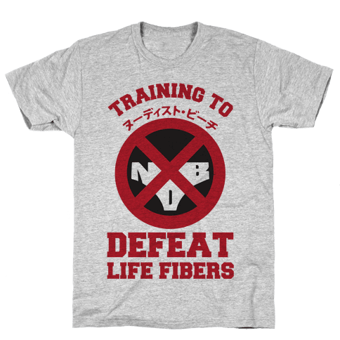 Training To Defeat Life Fibers Mens T-Shirt