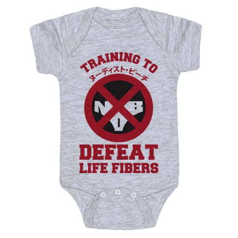 Training To Defeat Life Fibers Baby Onesy
