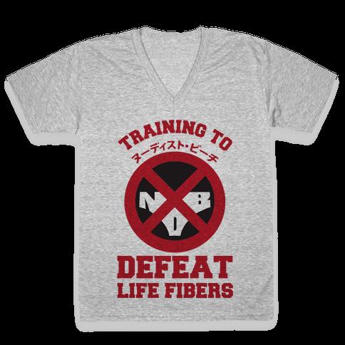 Training To Defeat Life Fibers V-Neck Tee Shirt