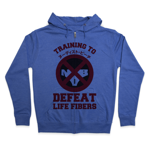 Training To Defeat Life Fibers Zip Hoodie