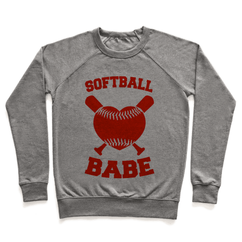 Softball Babe (red) Pullover