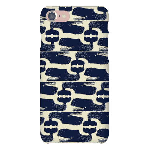 Vintage Nautical Whale Pattern Phone Case