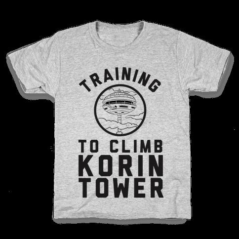 Training To Climb Korin Tower Kids T-Shirt