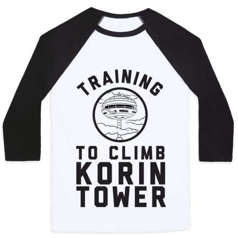 Training To Climb Korin Tower Baseball Tee