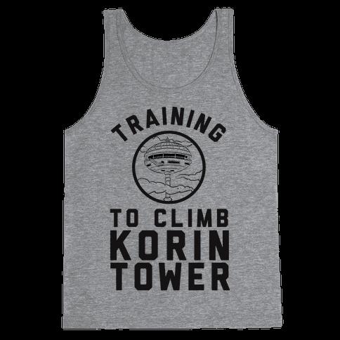 Training To Climb Korin Tower Tank Top