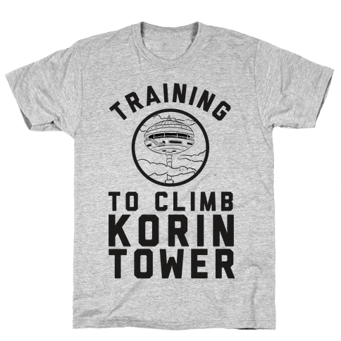 Training To Climb Korin Tower Mens T-Shirt