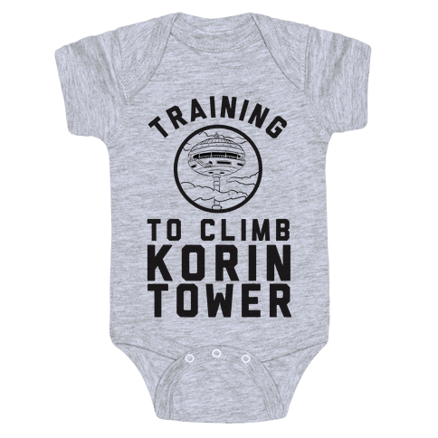 Training To Climb Korin Tower Baby Onesy