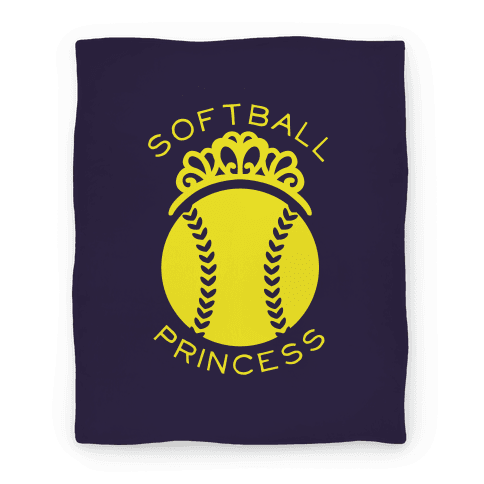 Softball Princess Blanket Blanket