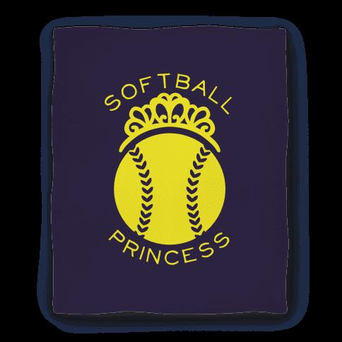 Softball Princess Blanket Blanket