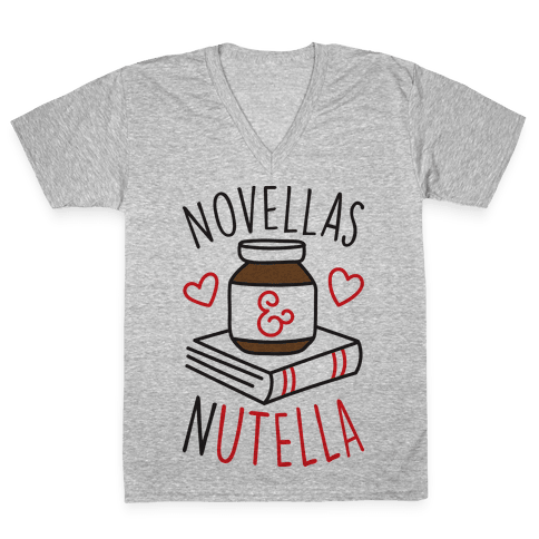 Novellas & Nutella V-Neck Tee Shirt