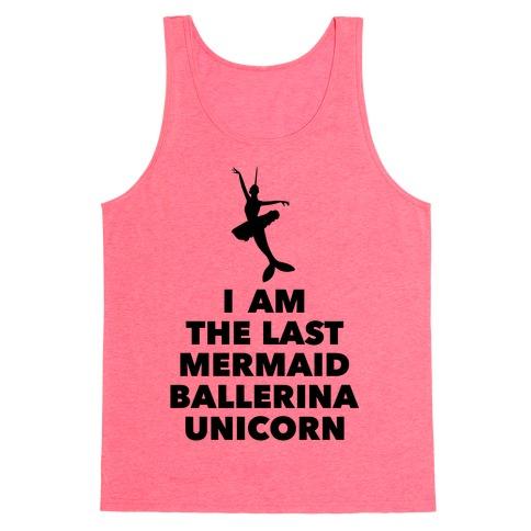Mermaid Ballerina Unicorn Tank Top