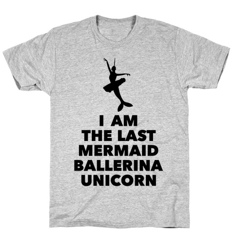 Mermaid Ballerina Unicorn T-Shirt