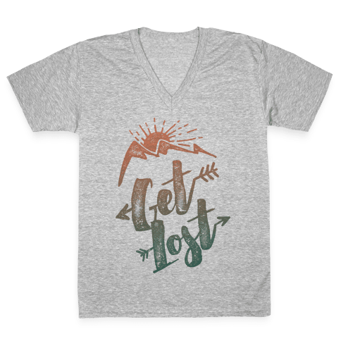 Get Lost V-Neck Tee Shirt
