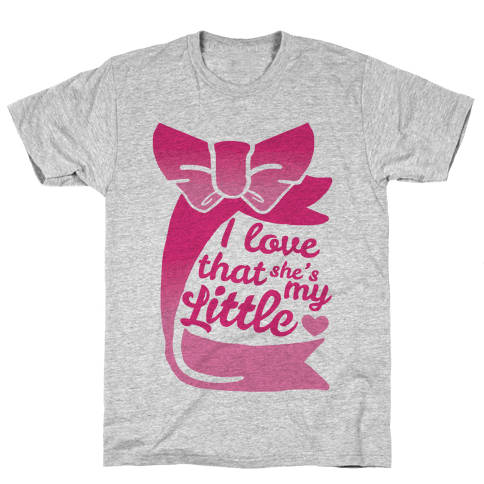 I Love She's My Sister (Little) Mens T-Shirt