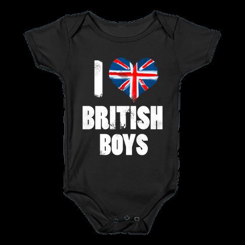 I (Heart) British Boys Baby Onesy