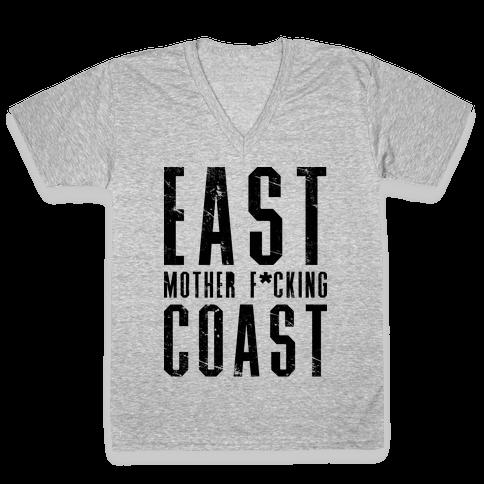 East Mother F*cking Coast V-Neck Tee Shirt