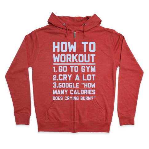 How To Workout Zip Hoodie