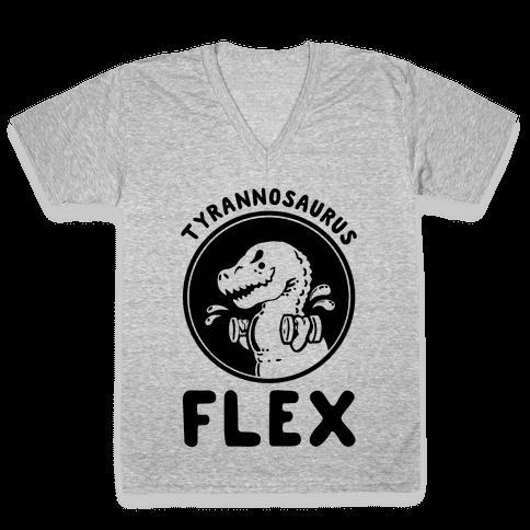 Tyrannosaurus Flex V-Neck Tee Shirt