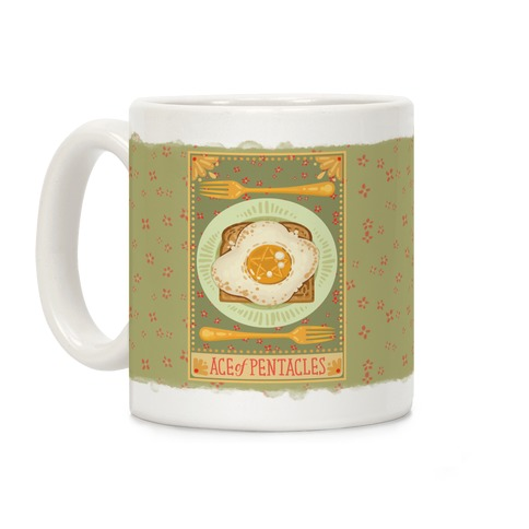Tarot Card: The Egg Of Pentacles Coffee Mug