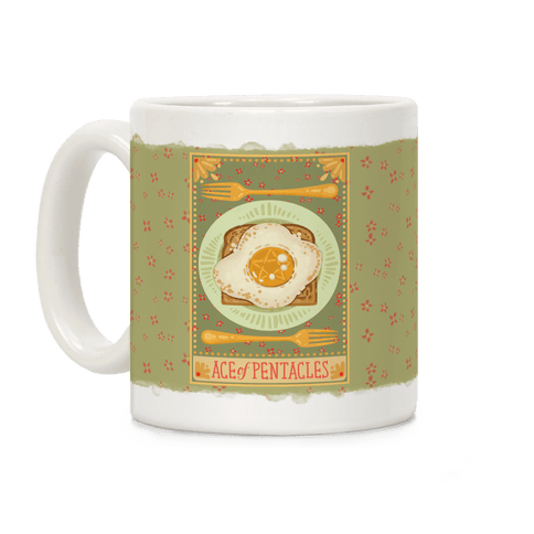 Tarot Card: The Egg Of Pentacles Coffee Mug