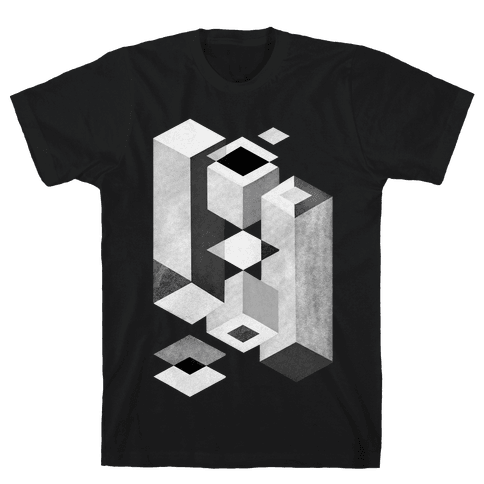 Geometry Optical Illusion Mens T-Shirt