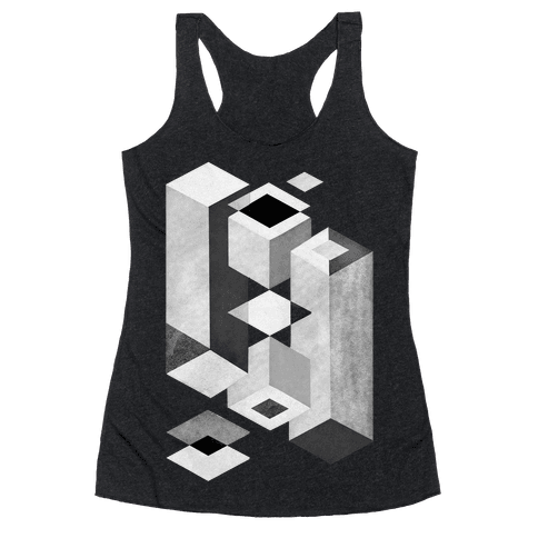 Geometry Optical Illusion Racerback Tank Top