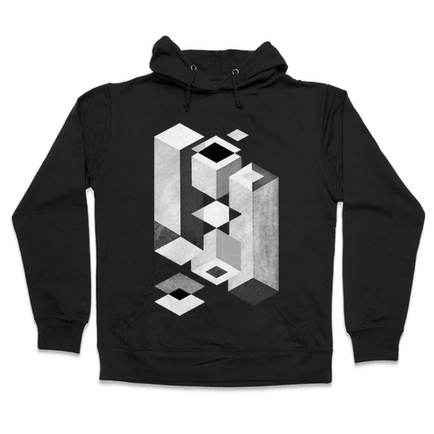 Geometry Optical Illusion Hooded Sweatshirt