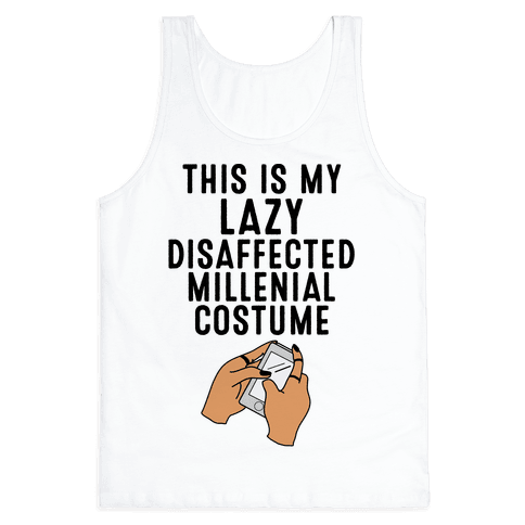 Lazy Millenial Costume Tank Top