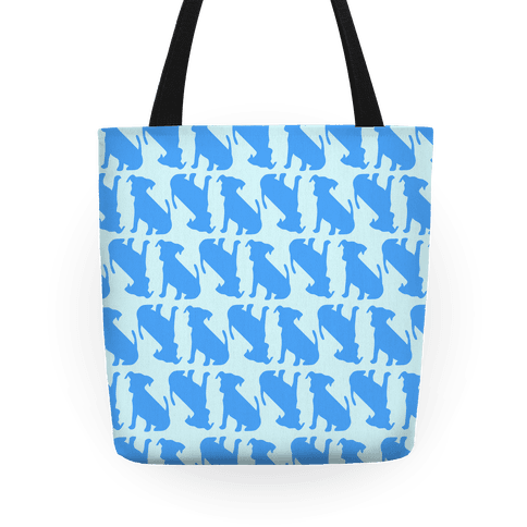 Blue Puppy Pattern Tote