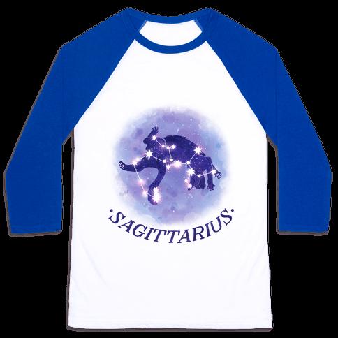 Cat Zodiac: Sagittarius Baseball Tee