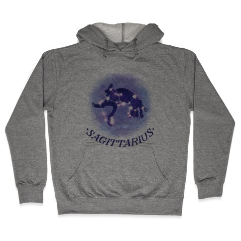 Cat Zodiac: Sagittarius Hooded Sweatshirt