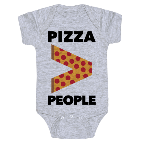 Pizza > People Baby Onesy