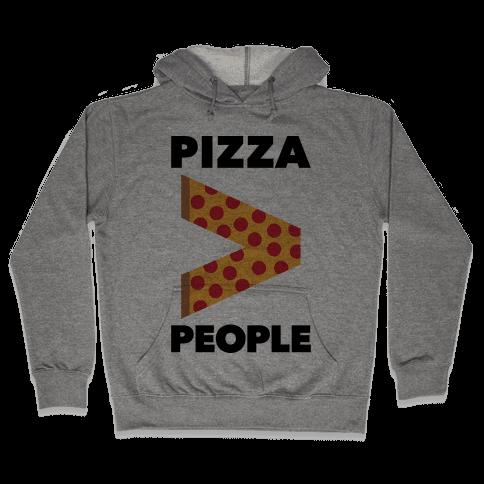 Pizza > People Hooded Sweatshirt