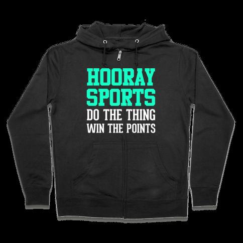 Hooray Sports Zip Hoodie