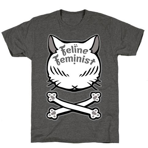 Feline Feminist Mens/Unisex T-Shirt