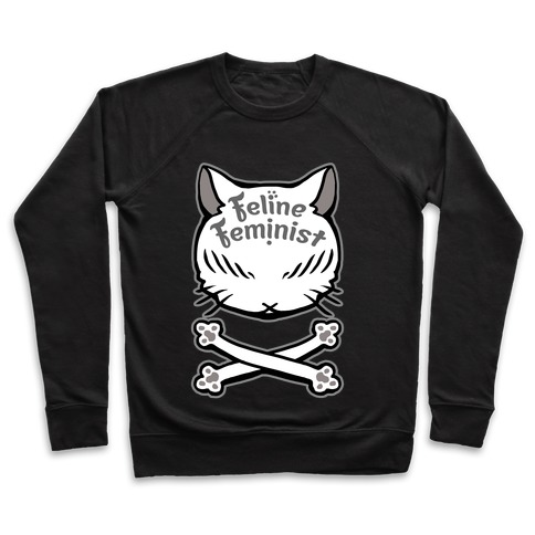 Feline Feminist Pullover